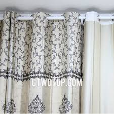Asian Curtains Vintage Asian Curtains With Leaf Patterns For Home