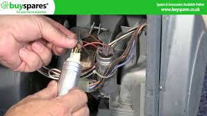 how to replace a tumble dryer motor capacitor hotpoint indesit