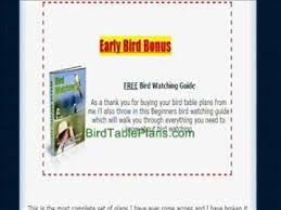 bird table plans how to make a bird table youtube