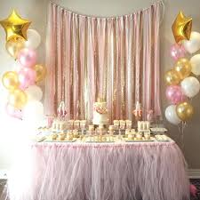 baby shower decor ideas sophisticated baby shower table decoration ideas pink gold garland