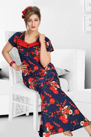 best cotton poly cotton night gowns at best lowest price