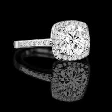 simulated engagement ring 0 50 ct radiant cushion square center halo settings ring