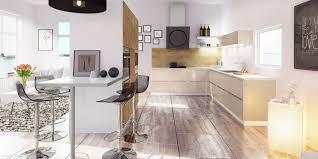 salon cuisine ouverte une cuisine équipée ouverte sur le salon