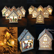 wooden building house ornaments ebay