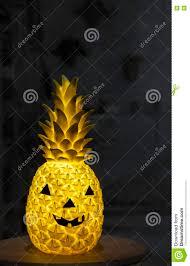 jack o lantern halloween pineapple stock photo image 79275245