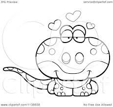 cartoon clipart of an outlined cute amorous gecko lizard black