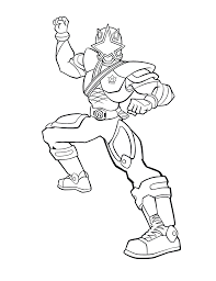 power ranger coloring page power rangers guard holding a sword