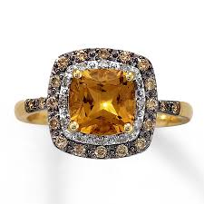 unique antique style 1 carat citrine and diamond engagement ring