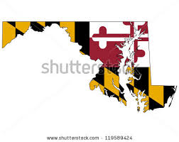 maryland map vector maryland vector map flag inside stock vector 119589424