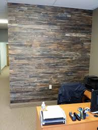 accent wall made with pallet wood hometalk