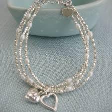 make silver bracelet images Silver heart multi strand bracelet by kathy jobson jpg