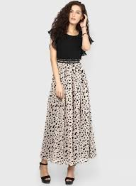 buy exclusive miaminx black colored printed maxi dress at best