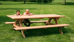 8 foot picnic table plans need help finding table cloths for picnic tables