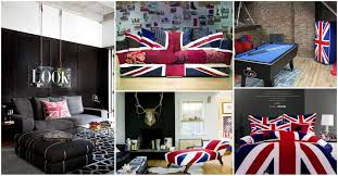 stylish british flag interior for a classy experience
