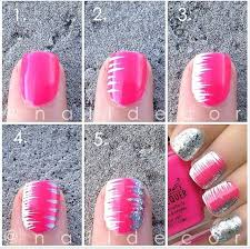 nice and simple nail art step by step art for girls stylishmods com