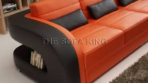 The Sofa Kings by V003 E L Shape Chaise Sofa Modern Leather Lounge Couch The Sofa King