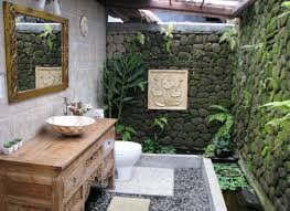 Tropical Design Unique Stone Wall And Flower Ornaments In Extraordinary Tropical