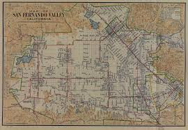 Edd Maps Map Of The San Fernando Valley From 1923 Valley Relics Museum