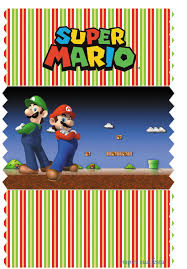 super mario bros party free printables candy bar labels and