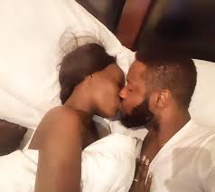 Kiss In Bed Comedian Roby Ekpo Shares Romantic Photo Of Him Kissing His Wife