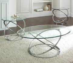 Coffee Table With Metal Base by Coffee Table Steve Silver Orion 3 Piece Glass Top Coffee Table Set