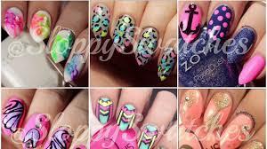 nail art airbrush fantasy flowers new nail art designs 2015