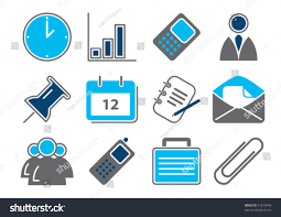 Different Color Schemes Vector Illustration 12 Different Business Icons Stock Vector