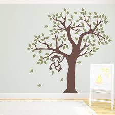 Tree Wall Decals For Nursery Cute Monkey Tree Wall Decal