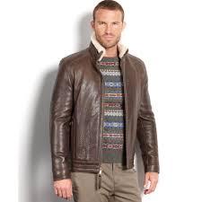 Rugged Clothing Marc New York Nathan Rugged Lamb Leather Shearling Collar Aviator