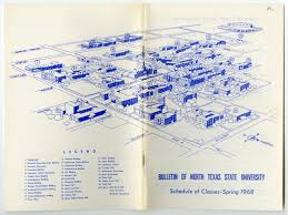 University Of Arkansas Campus Map Bulletin Of N T S U Schedule Of Classes Spring 1968 Campus Map