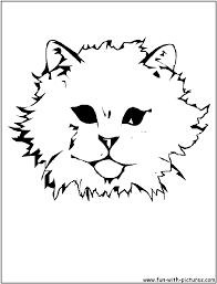 cat face coloring page free download