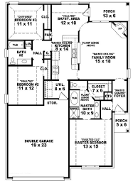 two bedroom two bathroom house plans 1 story 3 bedroom 2 bathroom kitchen dining room family house