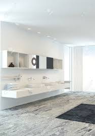 Designer Bathroom Vanity Units Wall Mounted Double Vanity Unit In A Fresh Light Bright Modern