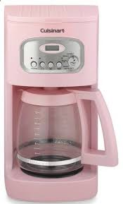 fun pink Cuisinart coffee maker rstyle