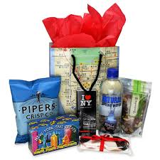 gift baskets nyc new york themed gifts ny welcome bag
