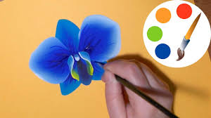 blue orchid flower how to paint the blue orchid paint a flower irishkalia