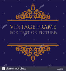 vintage frame design for text or picture with stylized acanthus