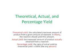 percent actual and theoretical yield worksheet key worksheets