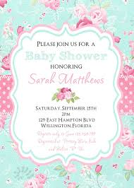 shabby chic baby shower invitation victorian floral by 3peasprints