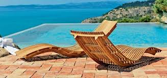 Sun Chairs Loungers Design Ideas Modern Wooden Sun Loungers Pool Furniture Patio Design Ideas