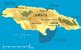 World Map Jamaica by Jamaica Map With Cities Political Jamaica Map Outline