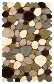 Pebble Stone Rug Hand Carved Stones And Pebbles Wool Rug Contemporary Area Rugs