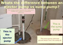 ejector pump vs sump pump u2013 what u0027s the difference