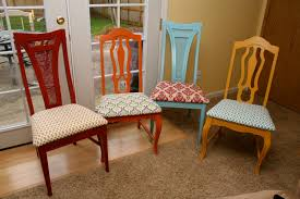 Refinish Dining Chairs Creative Refinishing Dining Room Chairs Decobizz