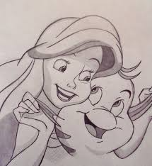 ariel and flounder by sacha31 on deviantart