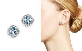 aquamarine stud earrings aquamarine earrings bloomingdale s