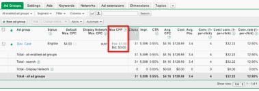 adwords bid adwords bid to call cost per phone cpp embitel