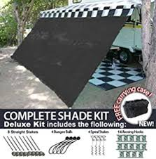 New Awning For Rv Amazon Com Rv Awning Shade Complete Kit 8 U0027x20 U0027 Black Sports