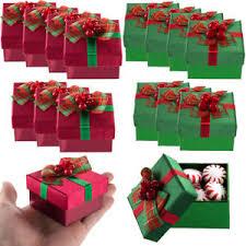 bulk christmas 8pk small presents mini gift boxes lids bows christmas party