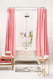 57 best the bathroom images on pinterest bathroom ideas pink bathroom ideas white bathroom with pink shower curtain